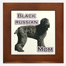 Black Russian Mom4 Framed Tile