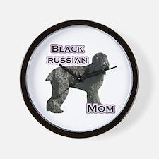 Black Russian Mom4 Wall Clock