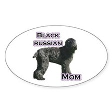 Black Russian Mom4 Oval Decal