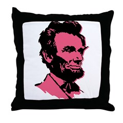 Pink President Lincoln Throw Pillow