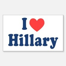 I Heart Hillary Decal