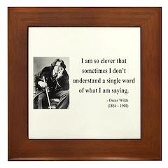 Oscar Wilde 13 Framed Tile