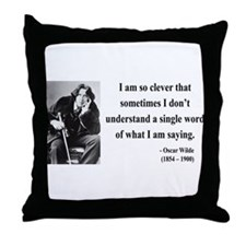 Oscar Wilde 13 Throw Pillow