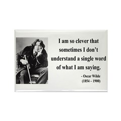 Oscar Wilde 13 Rectangle Magnet (10 pack)