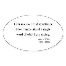 Oscar Wilde 13 Oval Decal