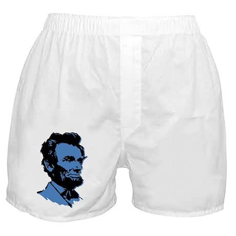 Blue President Lincoln Boxer Shorts