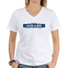 JACK-A-BEE Womens V-Neck T-Shirt
