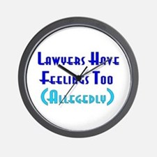 Anti-Lawyer Humor Wall Clock