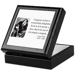 Oscar Wilde 15 Keepsake Box