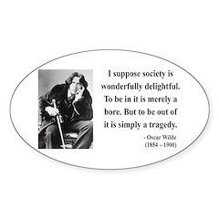 Oscar Wilde 15 Oval Decal