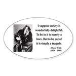 Oscar Wilde 15 Oval Sticker
