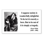 Oscar Wilde 15 Rectangle Sticker