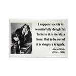 Oscar Wilde 15 Rectangle Magnet