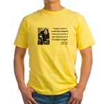 Oscar Wilde 15 Yellow T-Shirt
