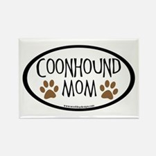 Coonhound Mom Oval Rectangle Magnet