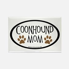 Coonhound Mom Oval Rectangle Magnet (10 pack)