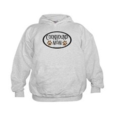 Coonhound Mom Oval Hoodie