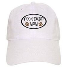 Coonhound Mom Oval Baseball Cap