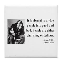 Oscar Wilde 16 Tile Coaster