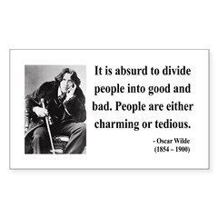 Oscar Wilde 16 Rectangle Decal