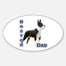 Boston Dad4 Oval Decal