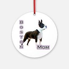 Boston Mom4 Ornament (Round)