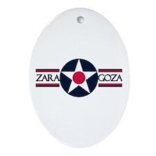 Zaragoza Air Base Oval Ornament