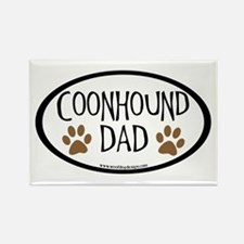 Coonhound Dad Oval Rectangle Magnet (10 pack)