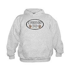 Coonhound Dad Oval Hoodie