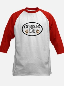 Coonhound Dad Oval Kids Baseball Jersey