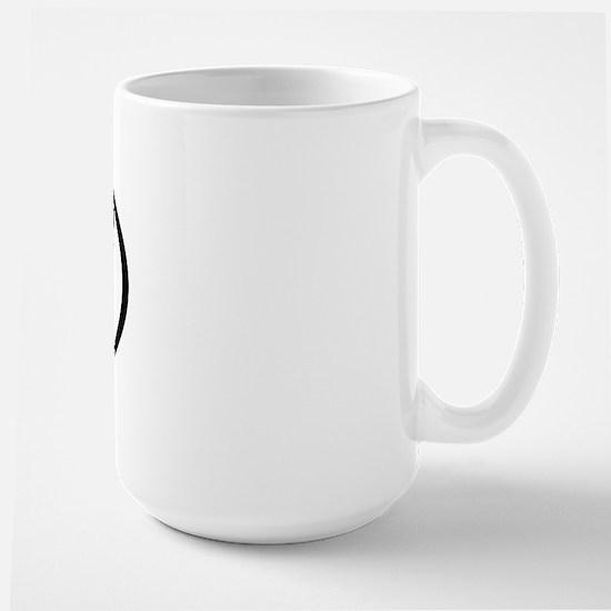 Coonhound Dad Oval Large Mug