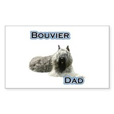 Bouvier Dad4 Rectangle Decal