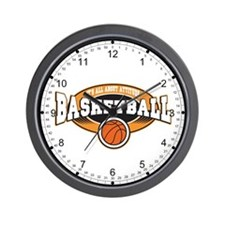 All About Attitude Basketball Wall Clock