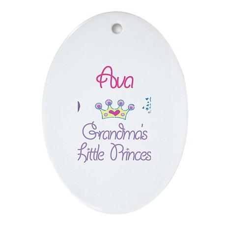Ava - Grandma's Little Prince Oval Ornament
