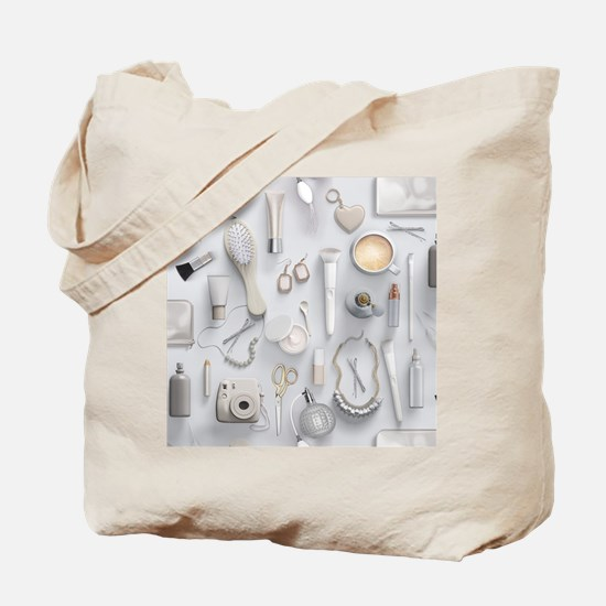White Vanity Table Tote Bag