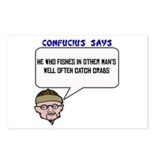 Catch crabs Postcards (Package of 8)
