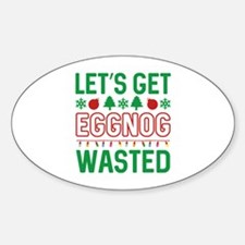 Eggnog Wasted Sticker (Oval)