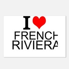 I Love French Riviera Postcards (Package of 8)