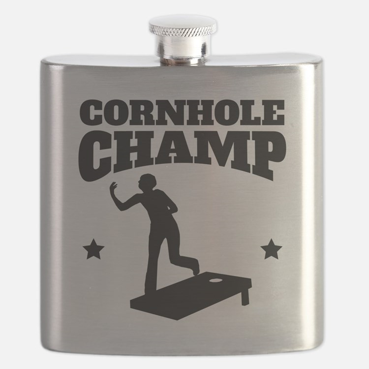 Cornhole Champ Flask