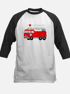 I Heart Fire Trucks Baseball Jersey