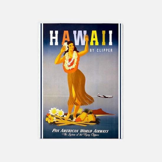 Hawaii, Hula, Travel, Vintage Poster 5'x7'