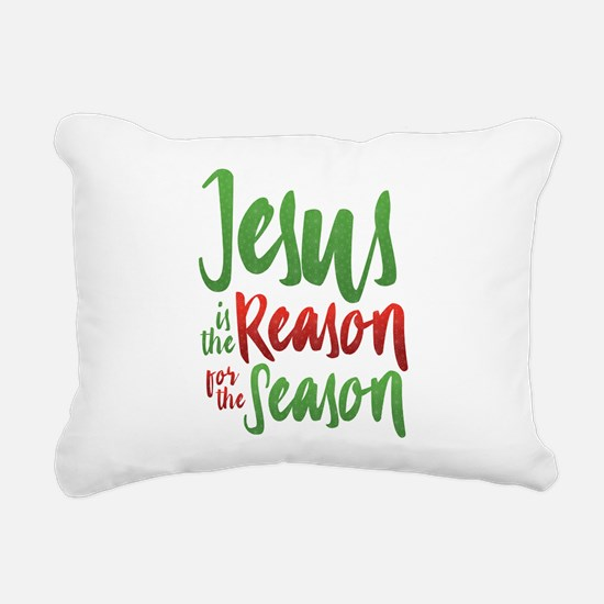 Jesus is the Reason Rectangular Canvas Pillow