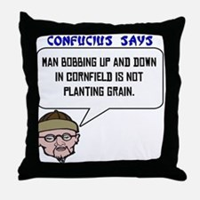 Bobbing in the cornfield Throw Pillow