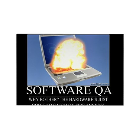Software QA Rectangle Magnet