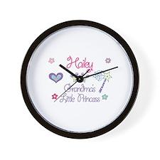 Hailey - Grandma's Little Pri Wall Clock
