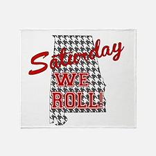 Saturday We Roll Throw Blanket