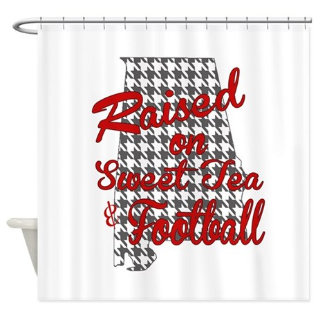 Amazing Sweet Tea, Football And Houndstooth Shower Curtain