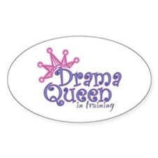Drama Queen I.T. Oval Decal