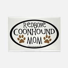Redbone Coonhound Mom Oval Rectangle Magnet (10 pa