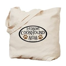 Redbone Coonhound Mom Oval Tote Bag